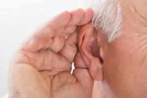 Elderly Man Straining to Hear