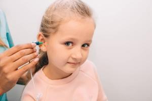 Hearing Test On Young Girl