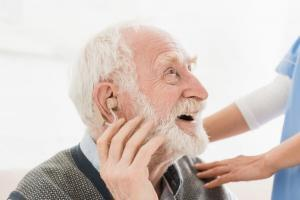 Patient Wearing Hearing Aids